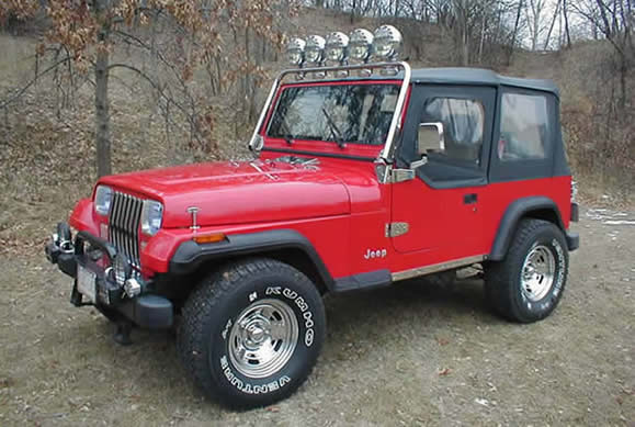 Jeep Red Wrangler Yj on 1989 Jeep Wrangler Headlights