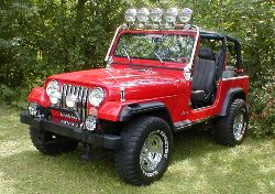 Jeep Wrangler YJ Red
